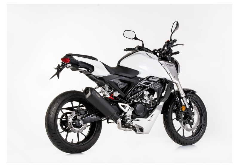 shark dsx 10 auspuff komplettanlage honda cb125 r jc79. Black Bedroom Furniture Sets. Home Design Ideas