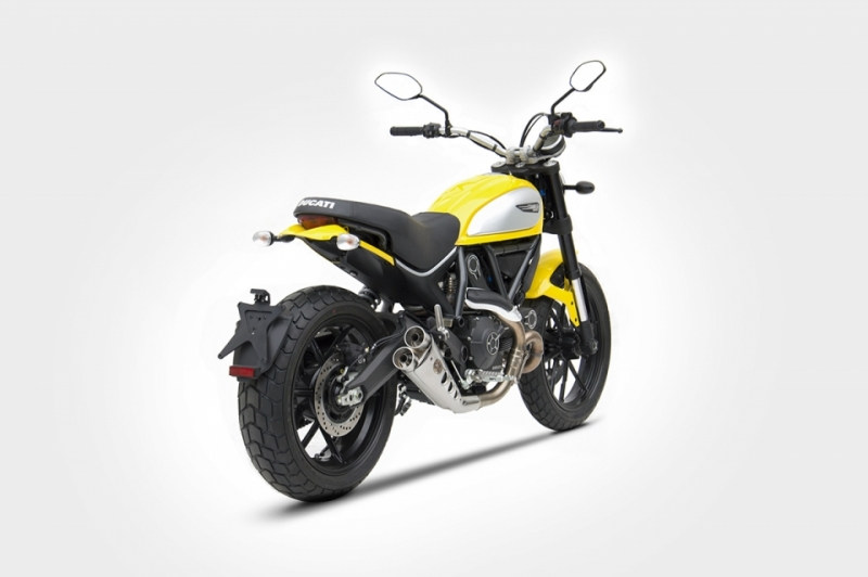 zard auspuff ducati scrambler low mounted 669 00. Black Bedroom Furniture Sets. Home Design Ideas
