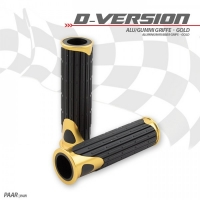 D-VERSION Alu Griffe / Lenkergriffe GOLD univeral passend
