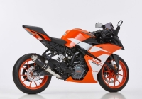 HURRIC SUPERSPORT BLACK EDITION Auspuff KTM RC390 ab 2017...
