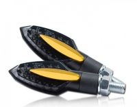 LED Blinker SLIVER mit Blende GOLD