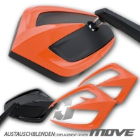 MOVE Lenkerspiegel Alugehäuse mit Blende ORANGE