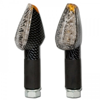 PEAK LED Blinker lang / konvexes Glas / Carbon-Look