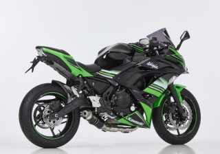 HURRIC SUPERSPORT BLACK EDITION Auspuff / Komplettanlage KAWASAKI NINJA 650 ab 2017